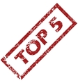 Stamp Top 5 vector image