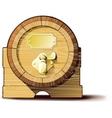 Old wooden barrels vector image