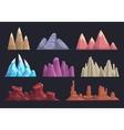 Cartoon rocks and mountains set vector image