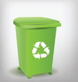 green recycle bin vector image vector image