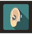 Hearing aid icon flat style vector image