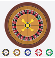 Roulette with chips vector image vector image