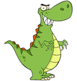 Angry Dinosaur Cartoon Character vector image
