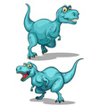 Blue dinosaur with sharp teeth vector image