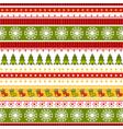 christmas stripe ribbons pattern vector image