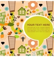 colorful eco pattern with place for your text vector image