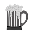 grayscale glass beer icon image design vector image