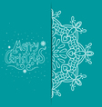 Greeting card with snowflakes-2 vector image