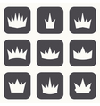 Vintage crowns Icons and silhouettes vector image