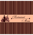 Template of restaurant menu vector image vector image