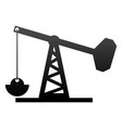 oil rig structure icon vector image