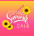 sale banner with hand vector image