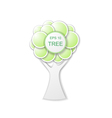the tree of circles vector image vector image