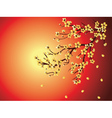 Decorative Sakura Background vector image vector image