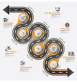 Road And Street Business Travel Curve Route vector image