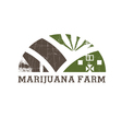 Cannabis farm icon vector image