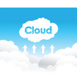 cloud uploading concept background vector image