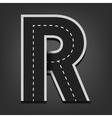 R letter Road font vector image