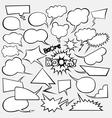 set of comics style speech bubbles vector image