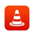 traffic cone icon digital red vector image