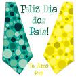 Bright bubble tie Happy Fathers Day neck tie card vector image