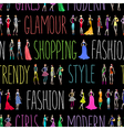 Fashion pattern text vector image vector image