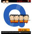 letter q with quadruplets vector image