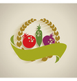 Nature vegetable label vector image vector image
