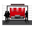 window shop vector image