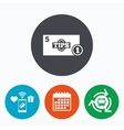 Tips sign icon Cash money symbol Coin vector image