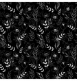 Black and white pattern poppies cute seamless vector image