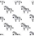cartoon zebra seamless pattern on white vector image