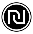 israeli shekel currency symbol vector image