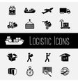 Supply Chain Icons Set vector image