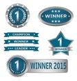 Winner labels vector image