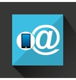 smartphone mail social network media icon vector image