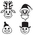 christmas muzzles vector image