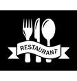 art style restaurant symbol vector image vector image