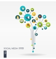 Abstract social media background Growth flower vector image