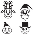christmas muzzles vector image