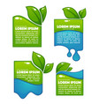 Glossy and shine labels and banners with green vector image