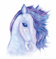 horse drawn watercolor vector image
