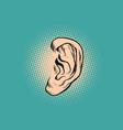 male human ear pop art retro vector image