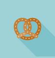 pretzel icon vector image