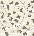 Seamless retro ginkgo background vector image