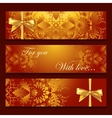 template banners with filigree pattern vector image