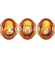 Zodiac signs of fire vector image