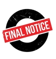 Final notic rubber stamp vector image