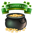 A pot full of golds vector image vector image