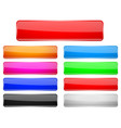 rectangle glass menu buttons colored set vector image